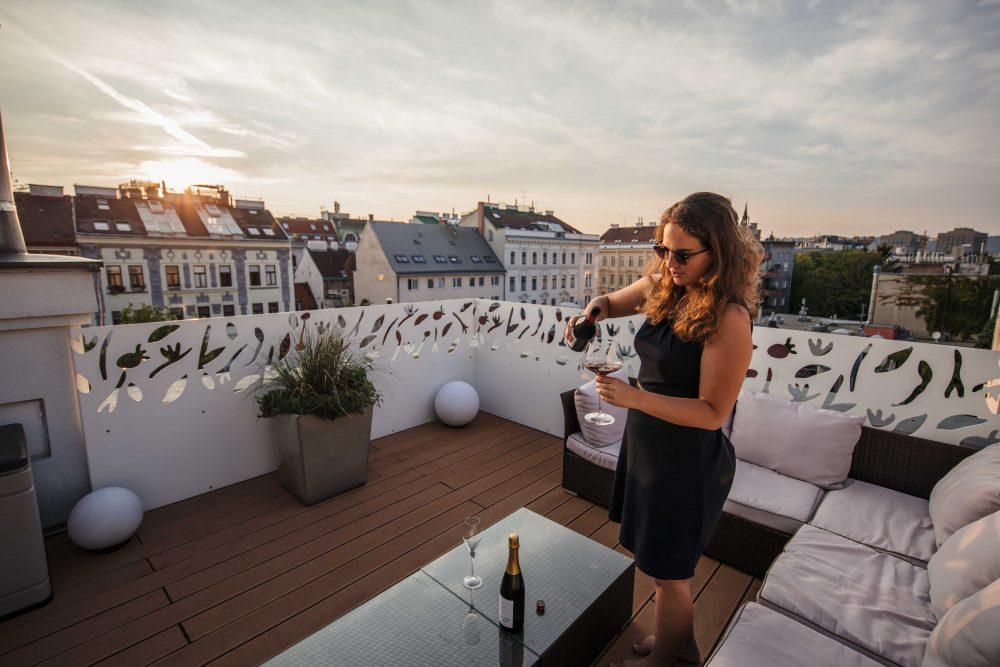 Hotel Rathaus Wein und Design - Terrasse