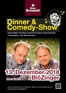 Plakat Dinner and Comedy (c) Rathauskeller