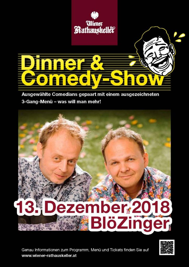 Plakat Dinner and Comedy (c) Rathauskeller