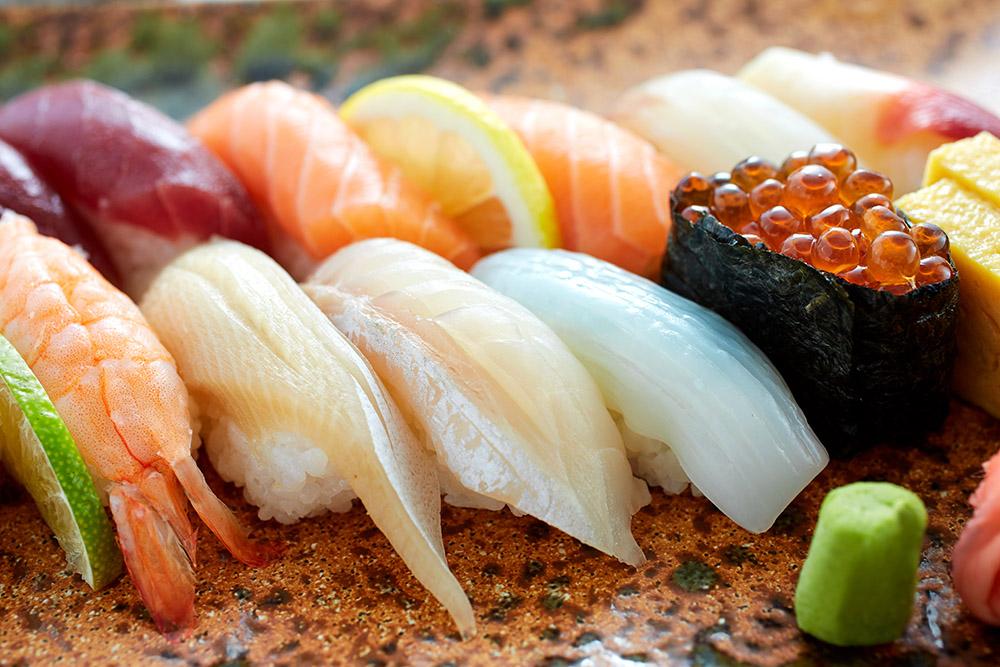 Restaurant UNKAI im Grand Hotel Wien; Sushi Moriawase