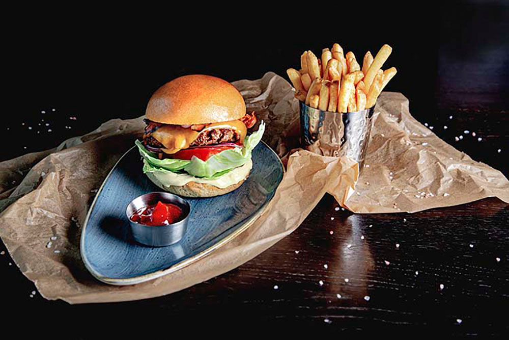 Champions Sports Bar Burger (c) Champions Sports Bar